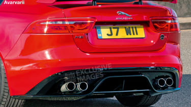 Jaguar XE SVR - rear detail (watermarked)