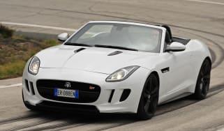 Jaguar F-Type V8S front cornering