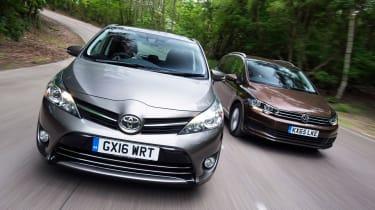 Toyota Verso vs Volkswagen Touran - header