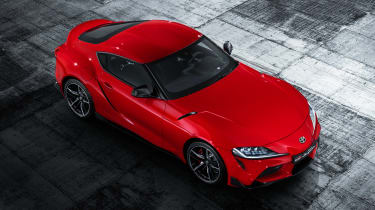 Toyota Supra - red above