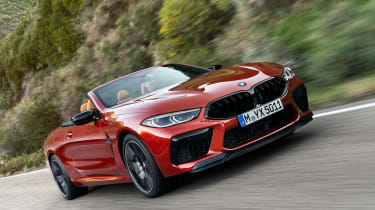 BMW M8 Competition Convertible - front action
