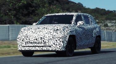 Lexus EV SUV - spied