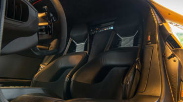 Ford GT Norway road trip - footwell