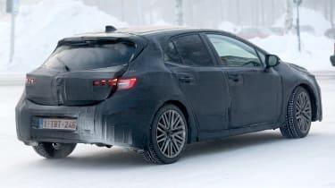 Toyota Auris spy shot 2018 rear snow