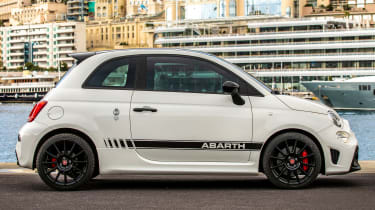 abarth 595 70th anniversary static side