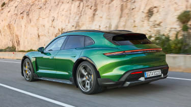 Porsche Taycan Cross Turismo - rear tracking