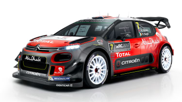 Citroen C3 WRC 2017 white background front