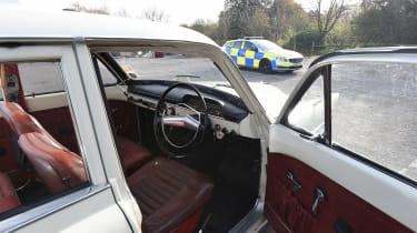 Volvo 121 Amazon police car - open door
