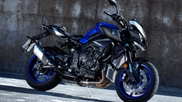 Yamaha MT-10 review - static front parked