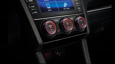 Subaru WRX STi Final Edition infotainment screen