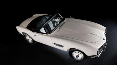 Elvis Presley BMW 507 - front three quarter above