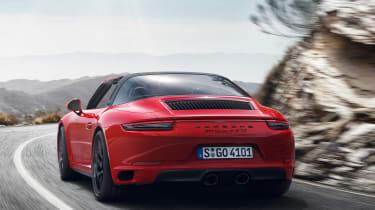 Porsche 911 Targa 4 GTS - rear action