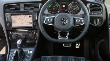 VW Golf GTE hybrid interior