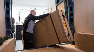 Renault Pro+ vans loading goods