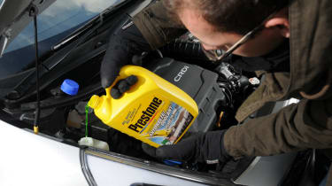 Mix your screenwash with water to the correct specifications and take care not to spill any on the car's bodywork.