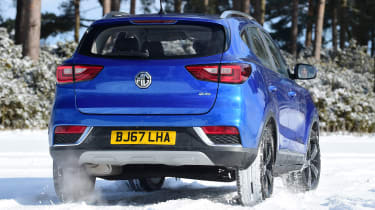 MG ZS - rear cornering