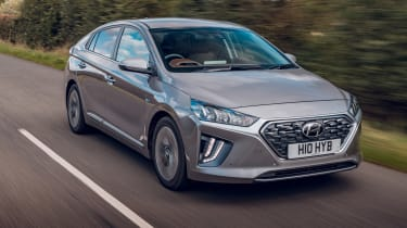 Hyundai Ioniq hybrid driving
