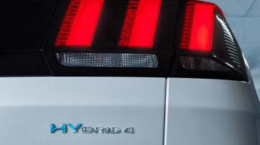 Peugeot 3008 hybrid badge detail