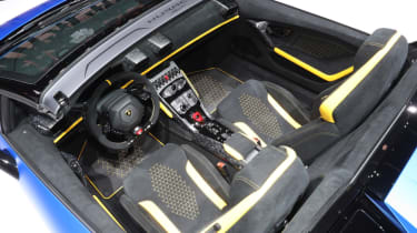 Lamborghini Huracan Performante Spyder cockpit