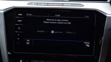 Twin test - VW Arteon - inforainment screen
