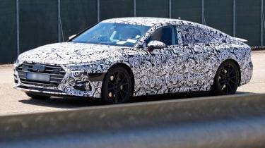New Audi A7 spyshot - front/side