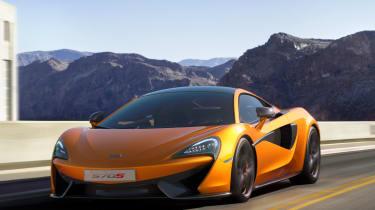 McLaren 570S - front tracking