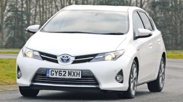 The Toyota Auris Hybrid is a more conventional alternative to Toyota's own Prius.