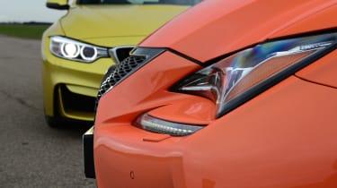 Lexus RC F - head to head