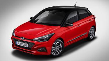 Hyundai i20 facelift - above