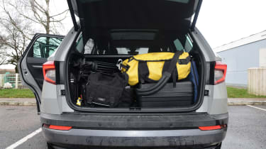 Skoda Karoq road trip - boot