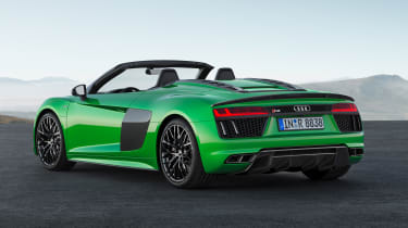 Audi R8 V10 Plus Spyder rear quarter