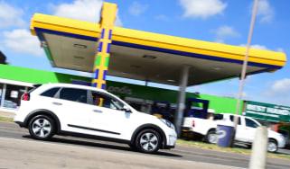 Kia Niro long-term - petrol station