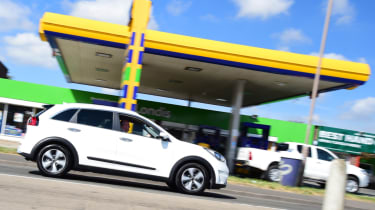 Kia Niro long-term - petrol station
