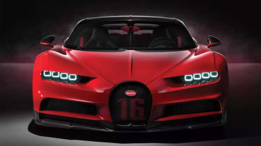 Bugatti Chiron-Sport front end