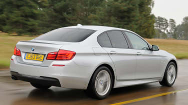 BMW 5 Series saloon 2013 rear track