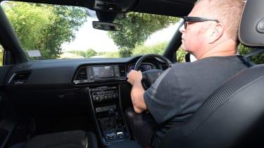 Cupra Ateca LT driving