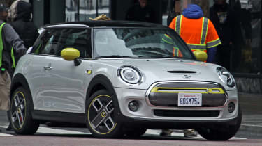 MINI electric - spy shots - front 3/4