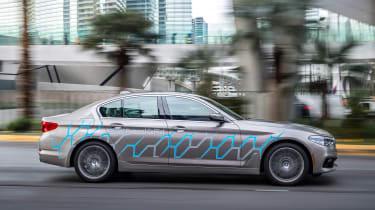 BMW 5 Series Personal CoPilot autonomous prototype panning