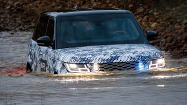 Range Rover Sentinel wading