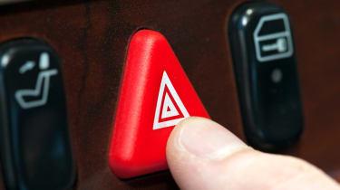 Hazard lights button