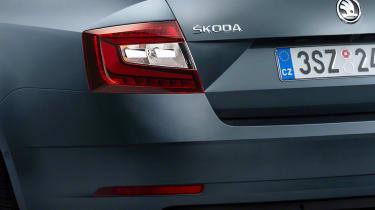 New 2017 Skoda Octavia facelift rear lights