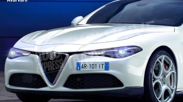 Alfa Romeo 5 Series rival exclusive image - front detail (watermarked)