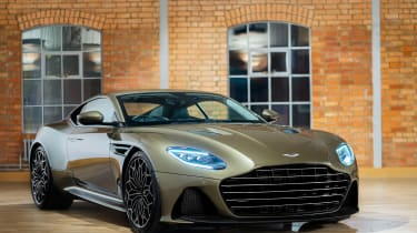 Aston Martin DBS Superleggera On Her Majesty's Secret Service - front static
