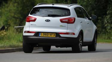 Kia Sportage rear cornering