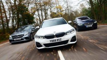 BMW 3 Series vs Mercedes C-Class vs Jaguar XE