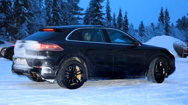 Porsche Cayenne Coupe spied - rear 3/4