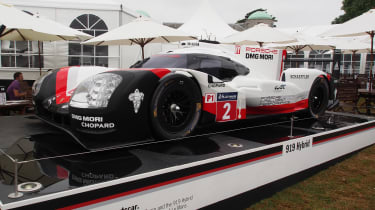 Porsche 919 Hybrid Le Mans winner - Goodwood front