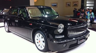 American influences merge with an old Rolls-Royce bodyshape to produce this ungainly limousine that conjured images of a hearse in its sinister black paintjob.