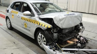 VW Polo - Frontal Full Width test - after crash