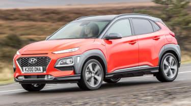 Hyundai Kona review - front quarter action